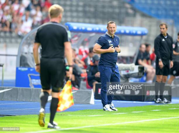 coach Pal Dardai of Hertha BSC during the game between Hertha BSC and dem VfB Stuttgart on august 19 2017 in Berlin Germany