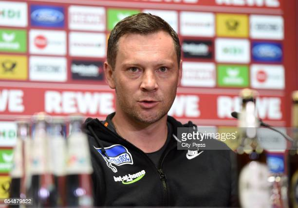 Coach Pal Dardai of Hertha BSC during the press conference after the game between dem 1 FC Koeln and Hertha BSC on march 18 2017 in Koeln Germany