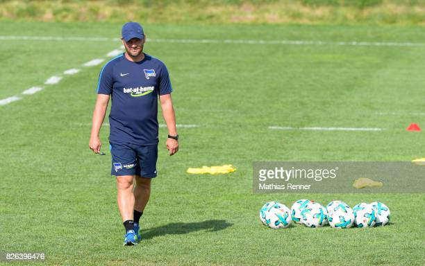 coach Pal Dardai of Hertha BSC during the training camp on august 4 2017 in Schladming Austria