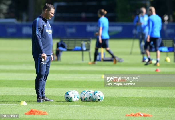coach Pal Dardai of Hertha BSC during the training on august 23 2017 in Berlin Germany