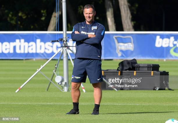 coach Pal Dardai of Hertha BSC during training on august 9 2017 in Berlin Germany