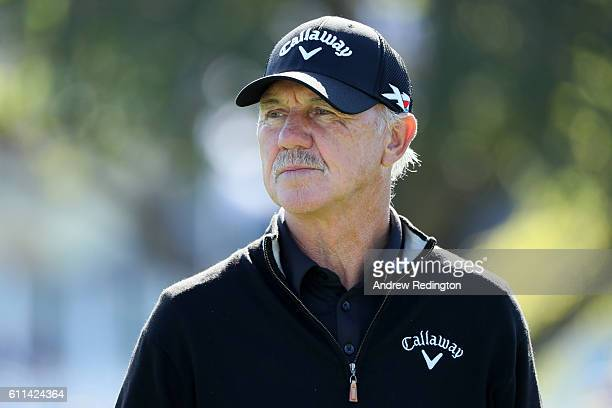 Coach Pete Cowen looks on during practice prior to the 2016 Ryder Cup at Hazeltine National Golf Club on September 29 2016 in Chaska Minnesota