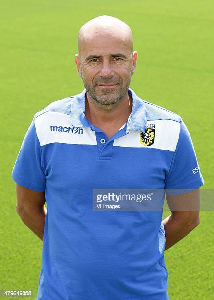 Coach Peter Bosz during the team presentation of Vitesse Arnhem on July 6 2015 at the Papendal training complex in Arnhem The Netherlands
