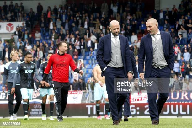 Coach Peter Bosz of Ajax during the Dutch Eredivisie match between Willem II Tilburg and Ajax Amsterdam at Koning Willem II stadium on May 14 2017 in...