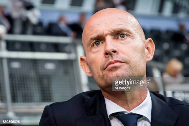coach Peter Bosz of Ajax during the Dutch Eredivisie match between Heracles Almelo and Ajax Amsterdam at Polman stadium on August 12 2017 in Almelo...