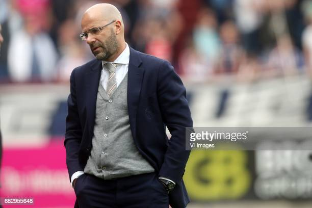 coach Peter Bosz of Ajaxduring the Dutch Eredivisie match between Willem II Tilburg and Ajax Amsterdam at Koning Willem II stadium on May 14 2017 in...