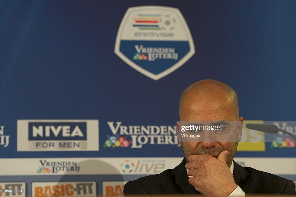 coach Peter Bosz of Heracles Almelo during the Dutch Eredivisie match between ADO Den Haag and Heracles Almelo at the Kyocera Stadium on march 03, 2013 in The Hague, The Netherlands