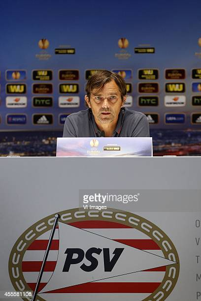 Coach Philip Cocu of PSV during the press conference of PSV Eindhoven prior to the UEFA Europa League match between PSV and GD Estoril Praia on...