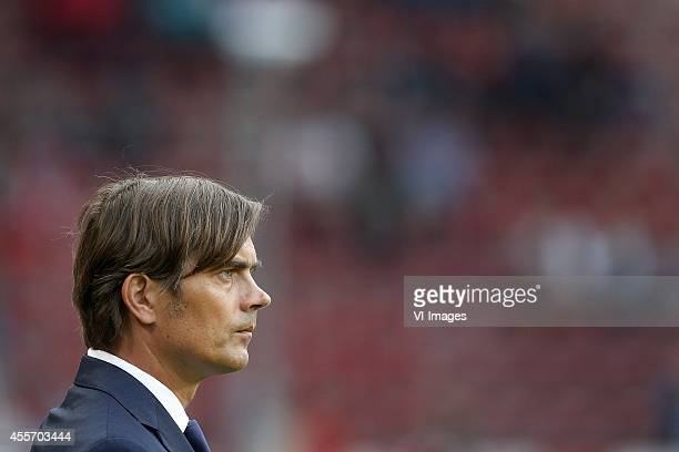 Coach Philip Cocu of PSV during the UEFA Europa League match between PSV and GD Estoril Praia on September 18 2014 at the Philips stadium in...