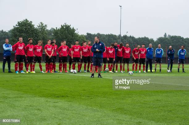 coach Rene Hake of FC Twente and the players and staff of FC Twenteduring a training session at Trainingscentrum Hengelo on June 24 2017 in Hengelo...
