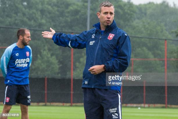 coach Rene Hake of FC Twenteduring a training session at Trainingscentrum Hengelo on June 24 2017 in Hengelo The Netherlands