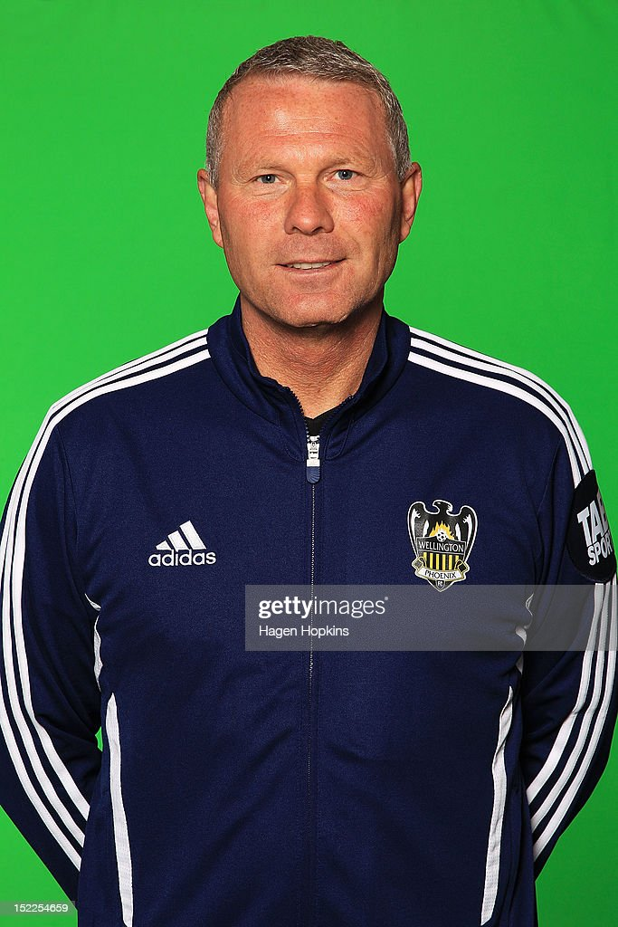 Coach <a gi-track='captionPersonalityLinkClicked' href=/galleries/search?phrase=Ricki+Herbert&family=editorial&specificpeople=591655 ng-click='$event.stopPropagation()'>Ricki Herbert</a> poses during the Wellington Phoenix 2012-13 A-League season headshots at Westpac Stadium on September 18, 2012 in Wellington, New Zealand.