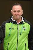 Coach Ricky Stuart of the Raiders looks on during the round 16 NRL match between the Gold Coast Titans and the Canberra Raiders at Cbus Super Stadium...