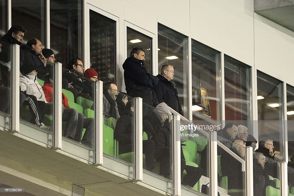 Coach Robert Maaskant of FC Groningen, during the Dutch Eredivisie match between FC Groningen and RKC Waalwijk at the Euroborg on february 9, 2013 in Groningen, The Netherlands