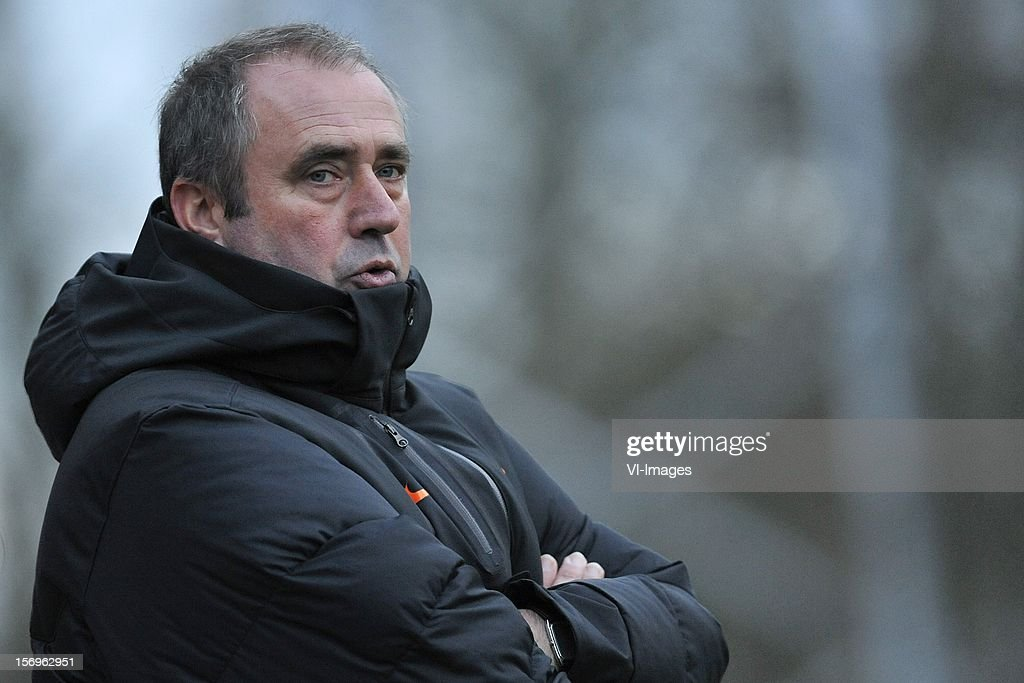 coach Roger Reijners of Holland during the Women's international friendly match between Netherlands and Wales, at Tata steel stadium on November 25, 2012 in Velzen-Zuid, Netherlands.