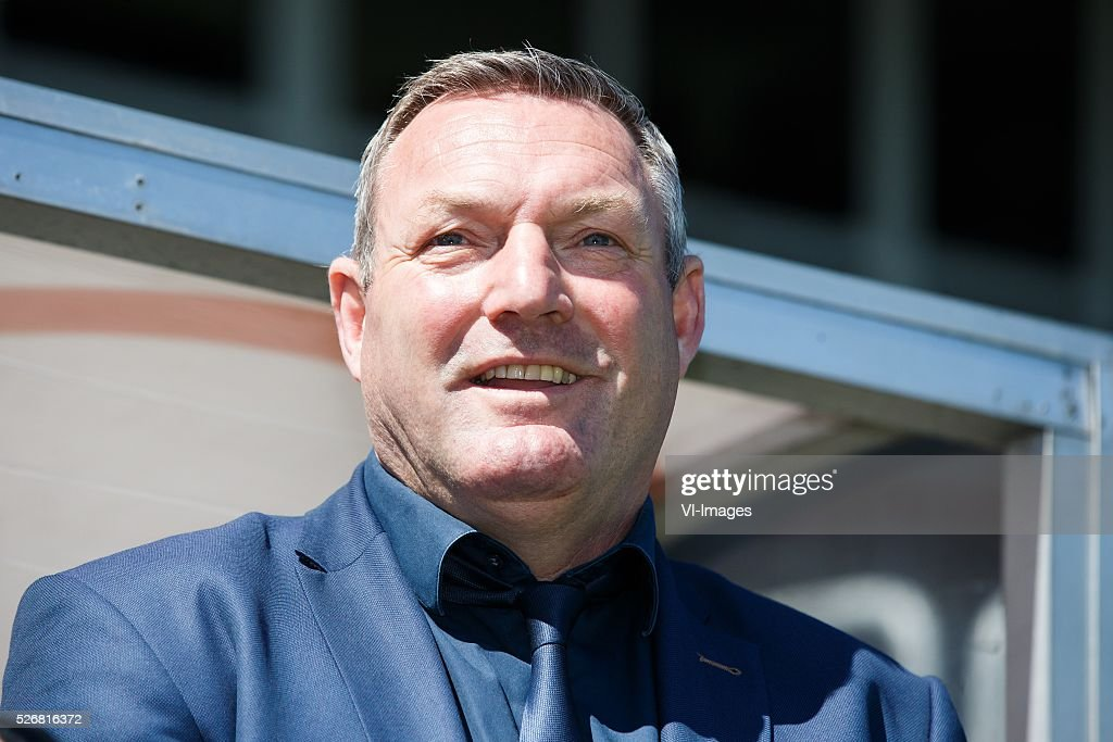 Coach Ron Jans of PEC Zwolle during the Dutch Eredivisie match between Excelsior Rotterdam and PEC Zwolle at Woudenstein stadium on May 01, 2016 in Rotterdam, The Netherlands