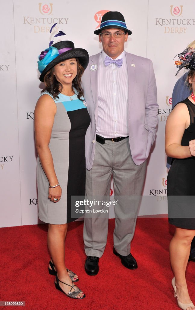 Coach Ron Rivera (R) and Stephanie Rivera attend the 139th Kentucky Derby at Churchill Downs on May 4, 2013 in Louisville, Kentucky.