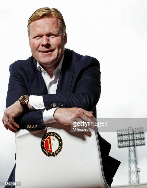 coach Ronald Koeman of Feyenoord during a photo shoot on May 10 2013 at the Kuip stadium in Rotterdam The Netherlands