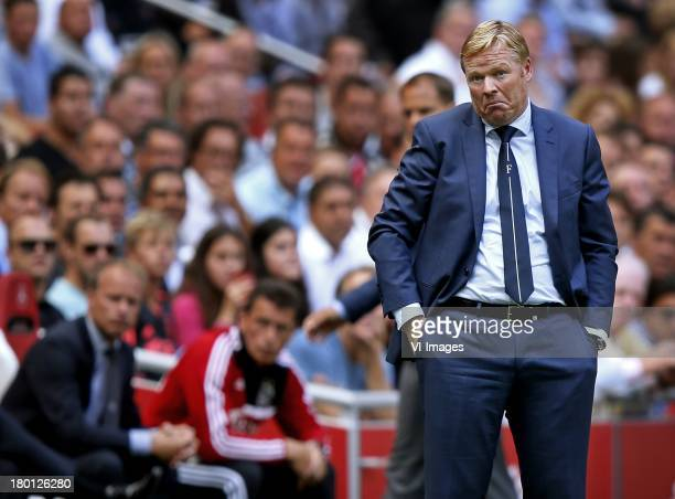 Coach Ronald Koeman of Feyenoord during the Dutch Eredivisie between Ajax and Feyenoord at the Amsterdam Arena on august 18 2013 in Amsterdam The...