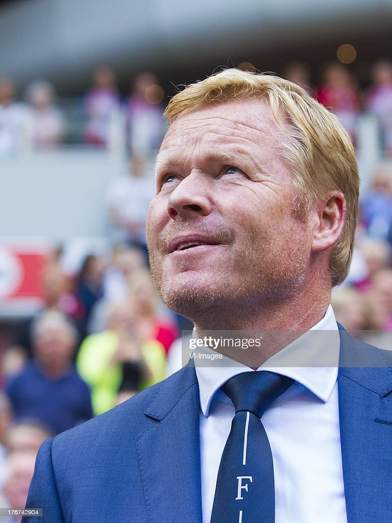 coach Ronald Koeman of Feyenoord during the Dutch Eredivisie match between Ajax Amsterdam and Feyenoord on August 18, 2013 at the Amsterdam Arena in Amsterdam, The Netherlands.