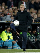 coach Ronald Koeman of Feyenoord during the Dutch Eredivisie match between Feyenoord and AZ on November 10 2013 at the Kuip stadium in Rotterdam The...