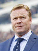 coach Ronald Koeman of Feyenoord during the Dutch Eredivisie match between PSV Eindhoven and Feyenoord at the Phillips stadium on April 13 2014 in...