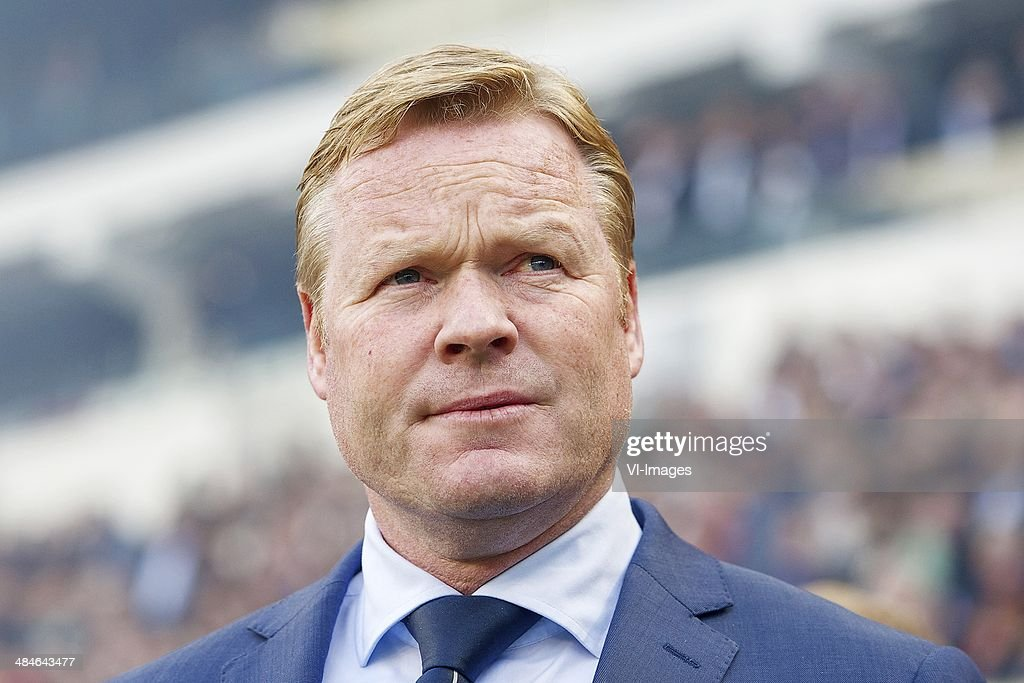 coach Ronald Koeman of Feyenoord during the Dutch Eredivisie match between PSV Eindhoven and Feyenoord at the Phillips stadium on April 13, 2014 in Eindhoven, The Netherlands