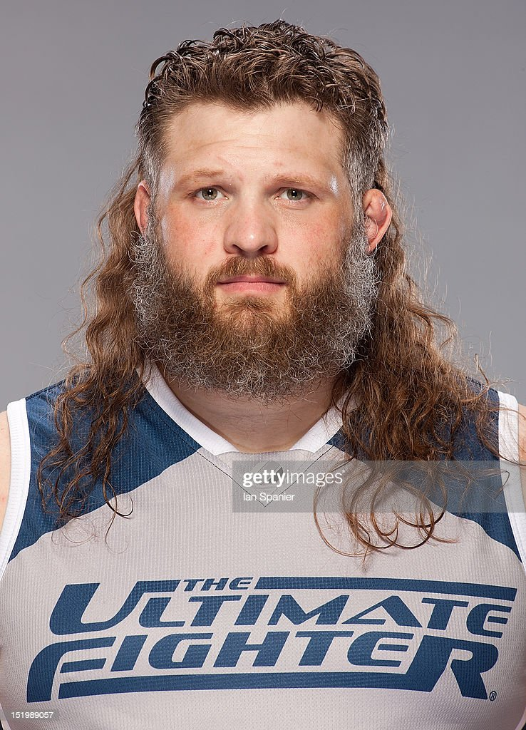 Coach <a gi-track='captionPersonalityLinkClicked' href=/galleries/search?phrase=Roy+Nelson&family=editorial&specificpeople=4230645 ng-click='$event.stopPropagation()'>Roy Nelson</a> poses for a portrait during a TUF 16 cast portrait shoot at the UFC Training Center on August 2, 2012 in Las Vegas, Nevada.