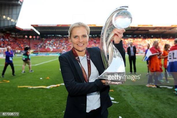 coach Sarina Wiegman of Holland Women during the UEFA WEURO 2017 final match between The Netherlands and Denmark at the Grolsch Veste on August 06...