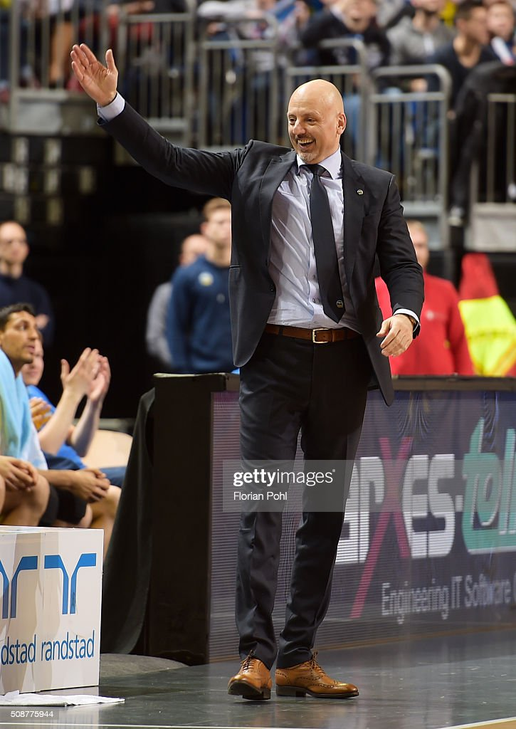coach Sasa Obradovic of ALBA Berlin during the game between Alba Berlin and the MHP Riesen Ludwigsburg on february 6, 2016 in Berlin, Germany.