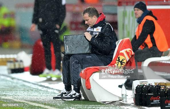 coach Sascha Lewandowski of 1 FC Union Berlin during the game between Union Berlin and Austria Salzburg on January 30 2016 in Berlin Germany