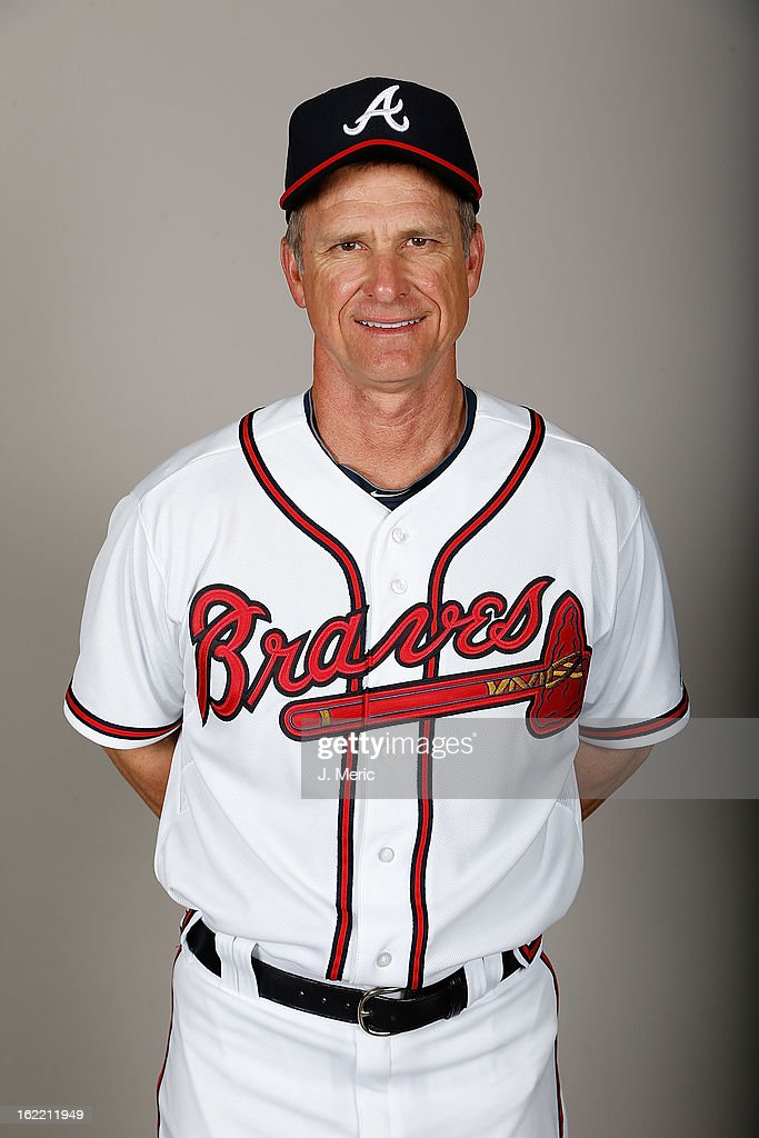 Coach Scott Fletcher #56 of the Atlanta Braves poses for a photo during photo day at Champion Stadium at the ESPN Wide World of Sports Complex at Walt Disney World on February 20, 2013 in Lake Buena Vista, Florida.