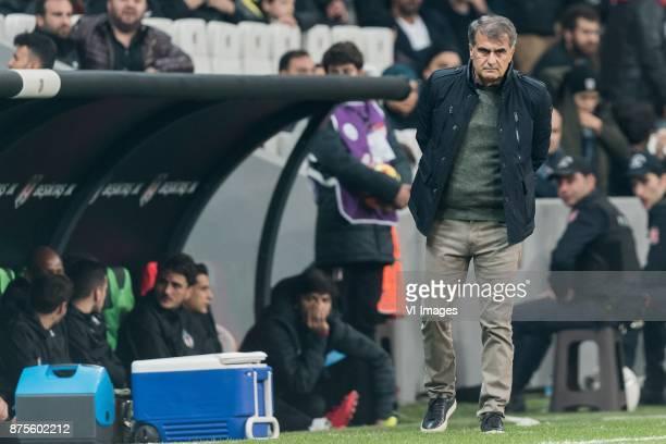 coach Senol Gunes of Besiktas JK during the Turkish Spor Toto Super Lig football match between Besiktas JK and Teleset Mobilya Akhisarspor on...