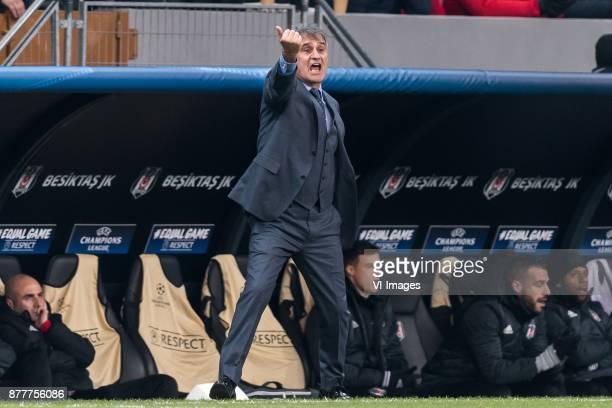 coach Senol Gunes of Besiktas JK during the UEFA Champions League group G match between Besiktas JK and FC Porto on November 21 2017 at the Vodafone...