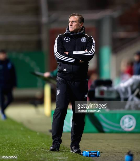 Coach Stefan Kuntz of Germany reacts during the UEFA Under21 Euro 2019 Qualifier match between U21 of Germany and U21 of Azerbaijan at Stadion der...