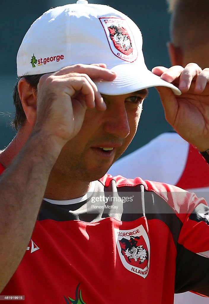 Coach Steve Price during a St George Illawarra Dragons NRL training session at WIN Stadium on April 2, 2014 in Wollongong, Australia.