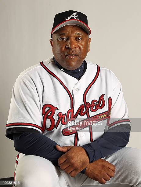 Coach Terry Pendleton of the Atlanta Braves during Photo Day at Champion Stadium at ESPN Wide World of Sports Complex on February 21 2011 in Lake...