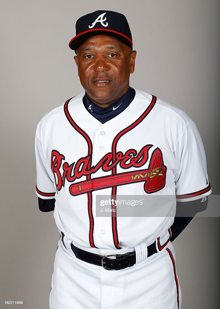 Coach Terry Pendleton #9 of the Atlanta Braves poses for a photo during photo day at Champion Stadium at the ESPN Wide World of Sports Complex at Walt Disney World on February 20, 2013 in Lake Buena Vista, Florida.
