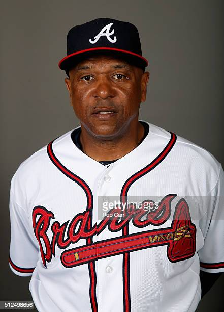 Coach Terry Pendleton of the Atlanta Braves poses on photo day at Champion Stadium on February 26 2016 in Lake Buena Vista Florida