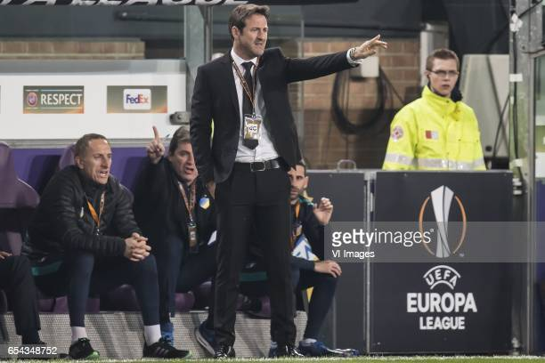 coach Thomas Christiansen of Apoel FCduring the UEFA Europa League round of 16 match between RSC Anderlecht and APOEL on March 16 2017 at Constant...