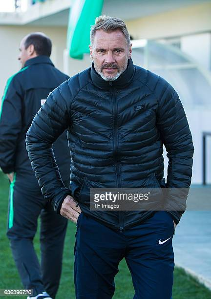 Coach Thorsten Fink of Wien looks on during the Friendly Match between SV Werder Bremen and FK Austria Wien at training camp on January 15 2016 in...