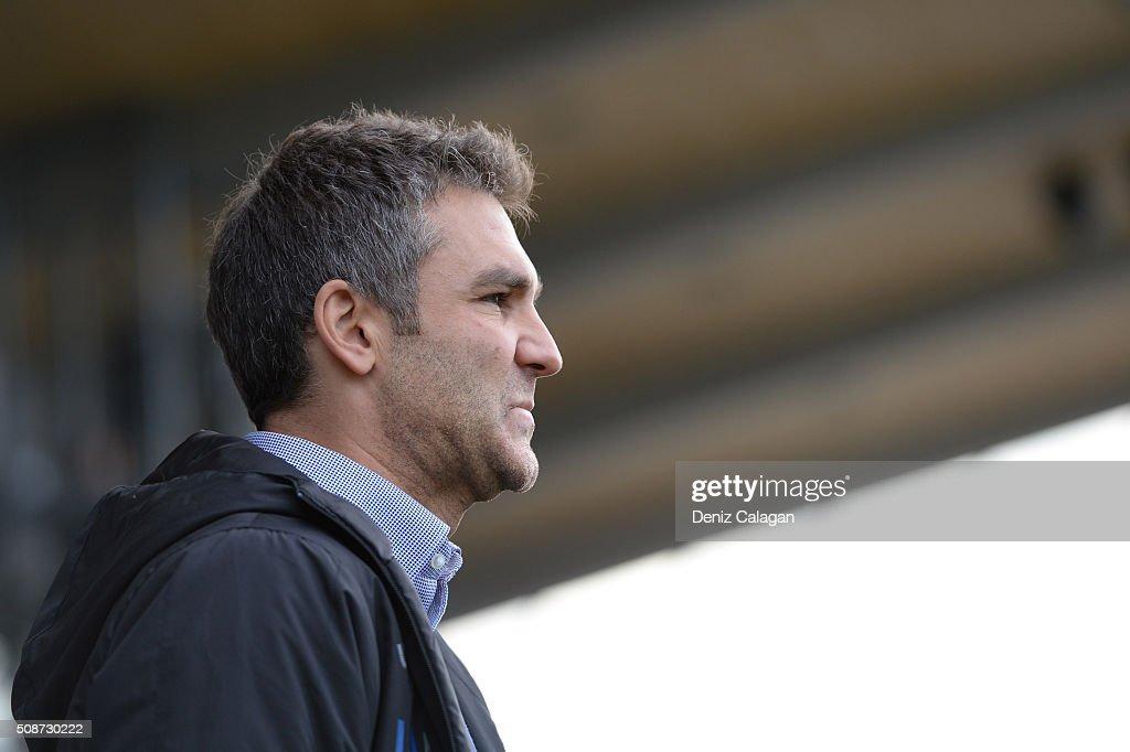 Coach Tomislav Stipic of Stuttgart looks on during the 3. Liga match between SV Stuttgarter Kickers and FC Hansa Rostock at GAZI-Stadion on February 6, 2016 in Stuttgart, Germany.