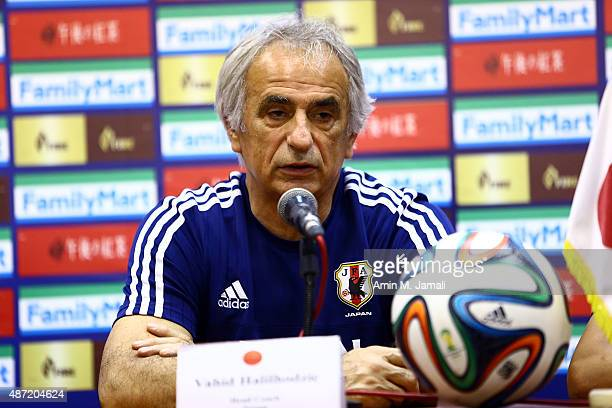 Coach Vahid Halihodzic of Japan is seen during press conference ahead of the 2018 FIFA World Cup Russia qualifier against Afghanistan at Azadi...