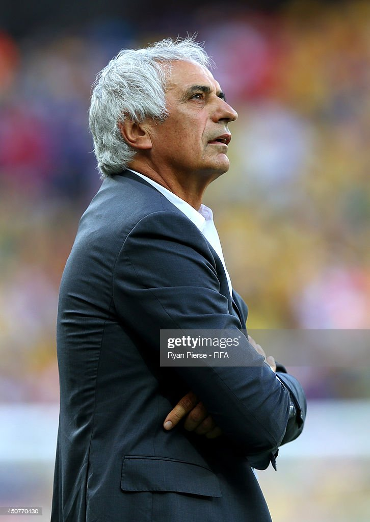 Coach <a gi-track='captionPersonalityLinkClicked' href=/galleries/search?phrase=Vahid+Halilhodzic&family=editorial&specificpeople=777212 ng-click='$event.stopPropagation()'>Vahid Halilhodzic</a> of Algeria reacts during the 2014 FIFA World Cup Brazil Group H match between Belgium and Algeria at Estadio Mineirao on June 17, 2014 in Belo Horizonte, Brazil.
