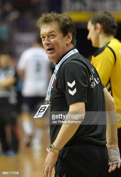 coach Velimir Petkovic of Fuechse Berlin during the game between Fuechse Berlin against SG FlensburgHandewitt on february 1 2017 in Berlin Germany