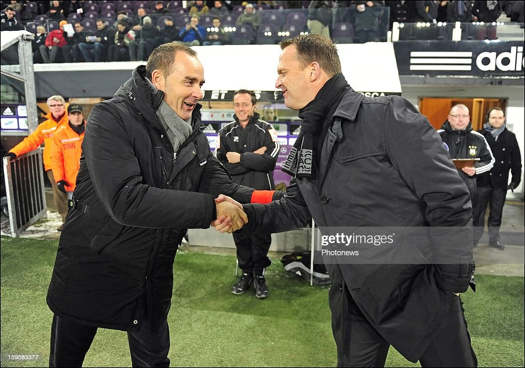 Coach Victor Fernandez of KAA Gent during the Cofidis cup match between RSC Anderlecht vs KAA Gent on January, 2013 in Anderlecht, Belgium.