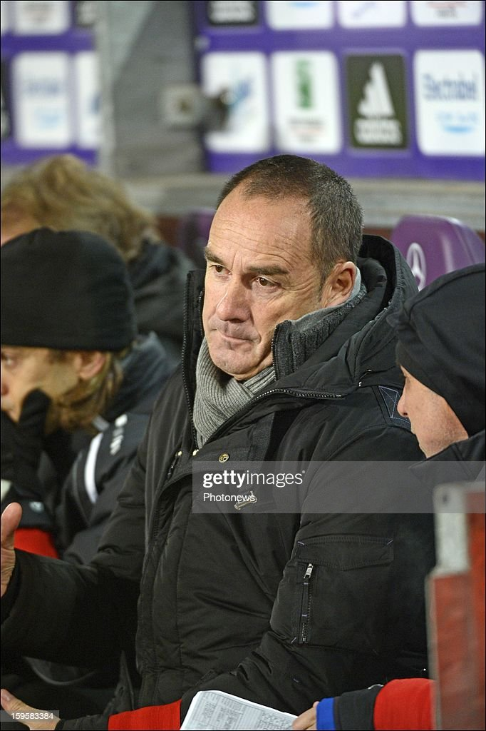 Coach Victor Fernandez of KAA Gent during the Cofidis Cup match between Rsc Anderlecht and Kaa Gent on January 16, 2013 in Anderlecht , Belgium.