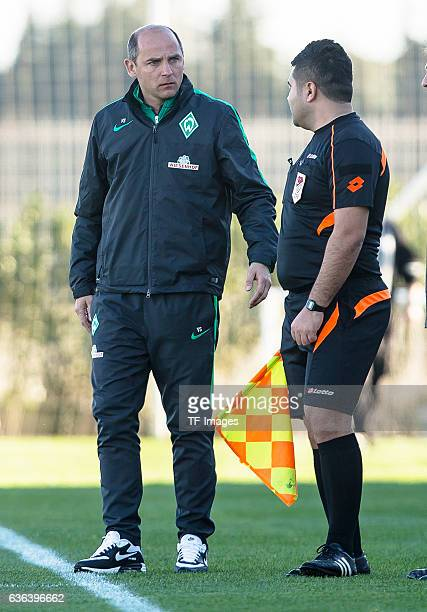 Coach Viktor Skripnik of Werder Bremen looks on during the Friendly Match between SV Werder Bremen and FK Austria Wien at training camp on January 15...