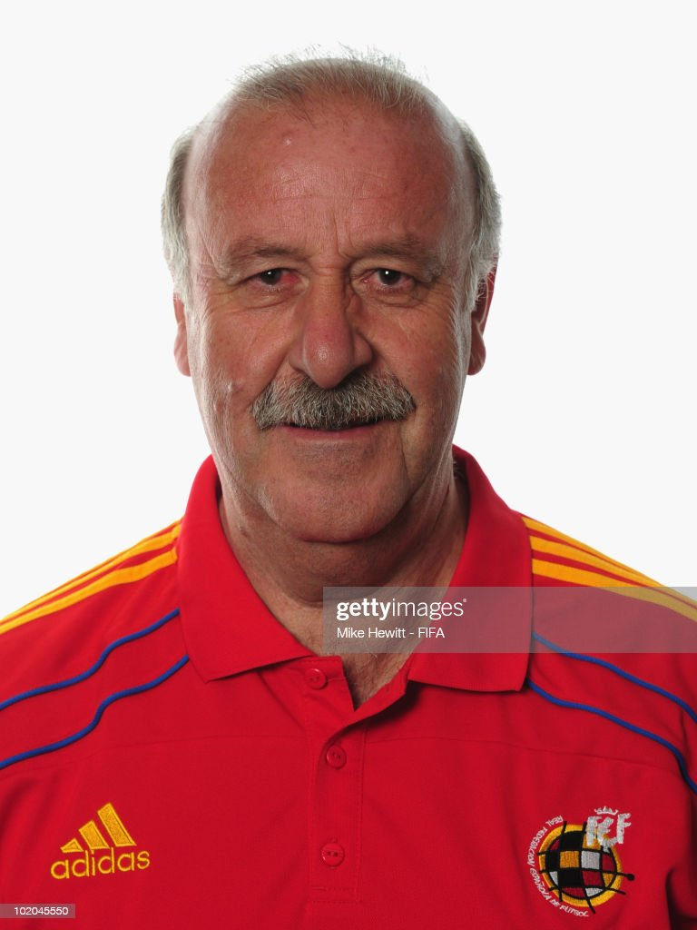 Coach Vincente Del Bosque of Spain poses during the official Fifa World Cup 2010 portrait session on June 13, 2010 in Potchefstroom, South Africa.