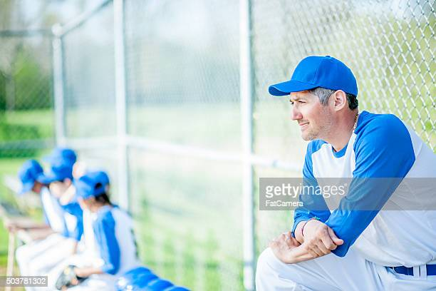 Coach Watching the Batter